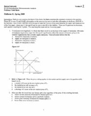 CAS EC 101 Midterm: EC101 Term Test 1 2009 Spring