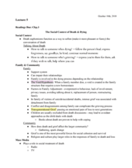 PSYC 208 Lecture Notes - Lecture 5: Homeostasis, Funeral Director