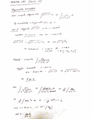MATH 141 Lecture 20: MATH 141 - Lecture 20 - OCT 10