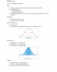 PSYC105 Lecture Notes - Lecture 5: Statistical Inference, Null Hypothesis, Standard Deviation
