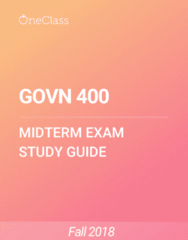 GOVN 400 Study Guide - Spring 2018, Comprehensive Midterm Notes - Sustainable Development, Social Capital, Organizational Culture