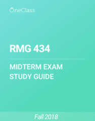 RMG 434 Study Guide - Fall 2018, Comprehensive Midterm Notes - Walmart, Supply Chain, Ableton