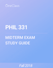 PHIL 331 Study Guide - Summer 2018, Comprehensive Midterm Notes - Exegesis, Ethics, Reading Company