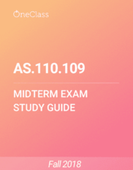 AS.110.109 Study Guide - Spring 2018, Comprehensive Midterm Notes - Texas Instruments, Test Cricket, Terravia