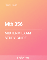 Mth 356 Study Guide - Spring 2018, Comprehensive Midterm Notes - Nave, If And Only If, Old Testament
