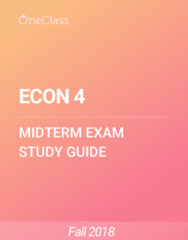 ECON 4 Study Guide - Winter 2018, Comprehensive Midterm Notes -