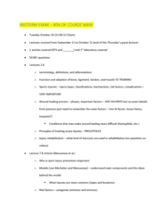 KNES 372 Lecture Notes - Lecture 10: Wound Healing, Sports Injury, Tissue Factor