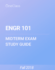 ENGR 101 Study Guide - Fall 2018, Comprehensive Midterm Notes - Amplitude Modulation, Positive-Definite Matrix, Array Data Structure