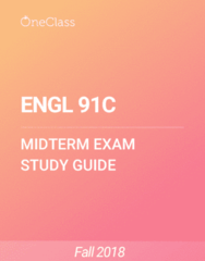 ENGL 91C Study Guide - Spring 2018, Comprehensive Midterm Notes - Dracula, Station Eleven, Speculative Fiction