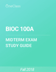 BIOC 100A Study Guide - Fall 2018, Comprehensive Midterm Notes - Oxygen, Titration, Properties Of Water