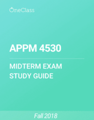 APPM 4530 Study Guide - Fall 2018, Comprehensive Midterm Notes -