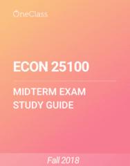 ECON 25100 Study Guide - Winter 2018, Comprehensive Midterm Notes - Nintendo Ds, Martin-Baker Mb 3, Kamen Rider Ooo