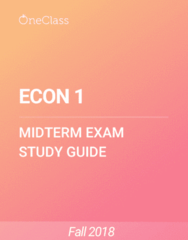 ECON 1 Study Guide - Summer 2018, Comprehensive Midterm Notes - Economic Surplus, Demand Curve, Economic Equilibrium
