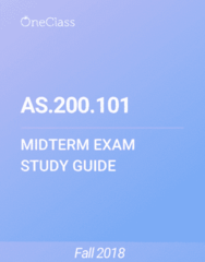 AS.200.101 Study Guide - Fall 2018, Comprehensive Midterm Notes - Frontal Lobe, Social Loafing, Schizophrenia