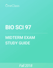BIO SCI 97 Study Guide - Fall 2018, Comprehensive Midterm Notes -
