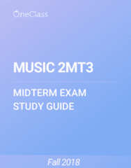 MUSIC 2MT3 Study Guide - Summer 2018, Comprehensive Midterm Notes - Xhosa People, White People, Western Culture