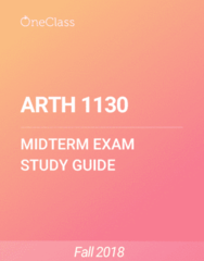 ARTH 1130 Study Guide - Fall 2018, Comprehensive Midterm Notes - Three-Dimensional Space, Perspective Graphical, Marble