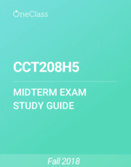CCT208H5 Study Guide - Summer 2018, Comprehensive Midterm Notes - Speaker Of The United States House Of Representatives, Socioeconomic Status, Qualtrics