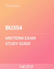 BU354 Study Guide - Fall 2018, Comprehensive Midterm Notes - New Zealand Labour Party, W. M. Keck Observatory, Time
