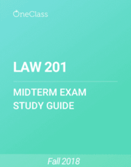 LAW 201 Study Guide - Summer 2018, Comprehensive Midterm Notes - Ontario, Canada, Inherent Jurisdiction
