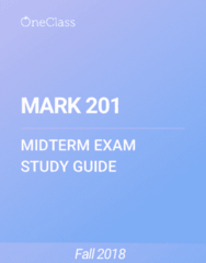MARK 201 Study Guide - Spring 2018, Comprehensive Midterm Notes - Virtual Machine, University Of Florida, Thyroid Hormone Receptor Beta