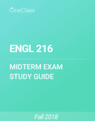 ENGL 216 Study Guide - Fall 2018, Comprehensive Midterm Notes - Brothers Grimm, Order Of Australia, Magic In Fiction
