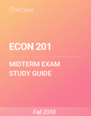 ECON 201 Study Guide - Fall 2018, Comprehensive Midterm Notes -