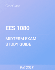 EES 1080 Study Guide - Spring 2018, Comprehensive Midterm Notes - Polychlorinated Biphenyl, Poison, Neurotoxin