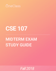 CSE 107 Study Guide - Fall 2018, Comprehensive Midterm Notes - Block Cipher, Ciphertext, Triple Des