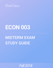 ECON 003 Study Guide - Fall 2018, Comprehensive Midterm Notes -