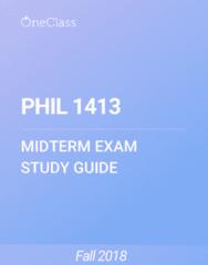 PHIL 1413 Study Guide - Fall 2018, Comprehensive Midterm Notes - Pope Benedict Xvi, Socrates, Rhetoric