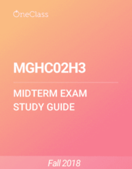 MGHC02H3 Study Guide - Summer 2018, Comprehensive Midterm Notes - Ford Focus, Time, Medicine