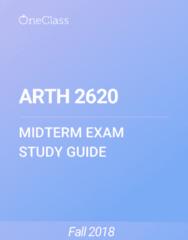 ARTH 2620 Study Guide - Fall 2018, Comprehensive Midterm Notes - Romanticism, Rococo, Neoclassicism