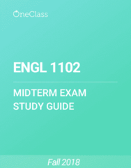 ENGL 1102 Study Guide - Summer 2018, Comprehensive Midterm Notes - Wuthering Heights, Quilt, Kate Chopin