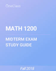 MATH 1200 Study Guide - Fall 2018, Comprehensive Midterm Notes - Confidence Trick, Operating Thetan, Xpression Fm