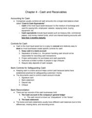 AFM101 Lecture Notes - Lecture 9: Money Market Fund, Cash Cash, Bank Reconciliation