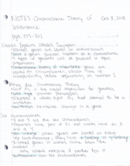 BIOL 180 Chapter pages 299-302: Chromosome Theory of Inheritance