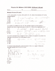 PHYSICS 3A Study Guide - Midterm Guide: Joule