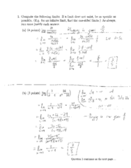MATH 31A Midterm: Math 31A Midterm 1 2016 Fall Solutions