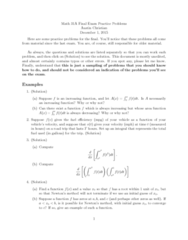 MATH 31A Study Guide - Final Guide: Antiderivative, Product Rule, Zirconium