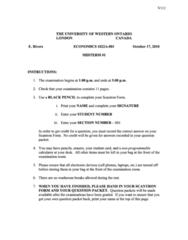 Economics 1022A/B Midterm: Economics 1022 Term Test 1 2010 Fall with Solutions