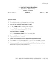 Economics 1022A/B Midterm: Economics 1022A-B Midterm 1 2014 Winter