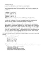 Economics 1022A/B Study Guide - Midterm Guide: Potential Output, Production Function, Workforce Productivity