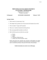 Economics 1022A/B Study Guide - Midterm Guide: Potential Output, Canadian Dollar, Demand Curve