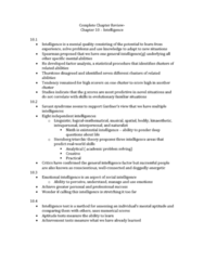 PSY 1102 Chapter Notes - Chapter 4: Fluid And Crystallized Intelligence, Intelligence Quotient, Developmental Disorder