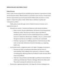 Political Science 1020E Quiz: BUREAUCRACIES AND PUBLIC POLICY