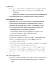 Political Science 1020E Quiz: Market model
