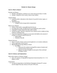 ENVIRSC 2EI3 Lecture Notes - Lecture 6: World Meteorological Organization, Malaria, Coastal Erosion