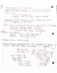 MATH-M 118 Lecture 26: 5.2 Formulation and Solution of Systems of Linear Equations in Two Variables