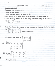 MAT133Y5 Lecture 12: MAT133Y5 Lecture 12 - Continuation of Matrices